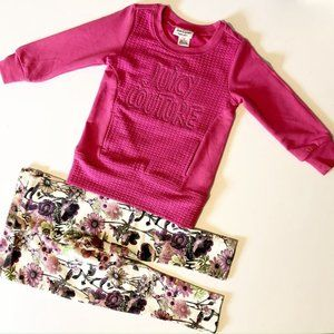 Brand new Designer Juicy Couture pink top floral